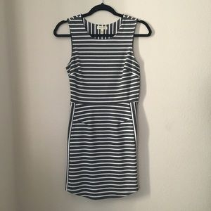 Urban Outfitters- Dark blue & white striped dress